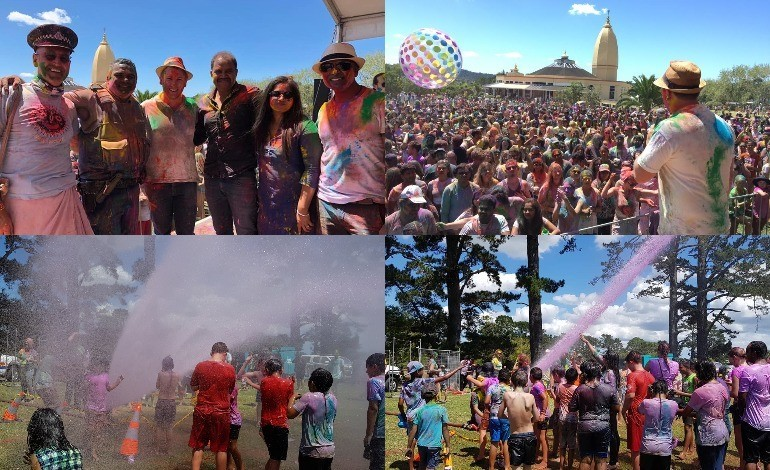 ISKCON Holi festival drenches Aucklanders in colours, water and