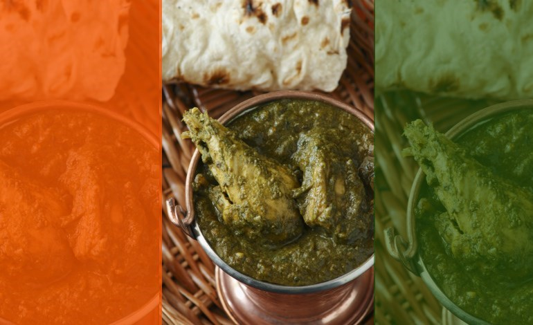 Food Chicken recipes Spinach saag