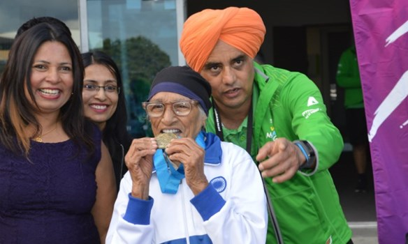 Javelin World Master Games 100m 200m Man Kaur Trust Arena Gold Medal Guinness Book of World Records
