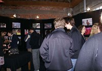 Visitors at the opening of the Faces of India photo exhibition in Wellington