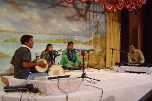 Musicians from India playing at MG Centre