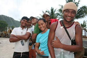 A team of young men and women are determined to rebuild their flattened village