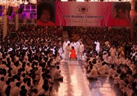 Satsang with thousands of devotees