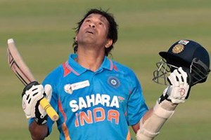 Sachin Celebrating his 100th century