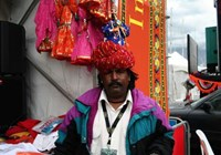 Turbaned folk artiste from Rajasthan