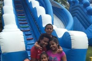 Children have fun at Big Bula- Inflatable Water Park