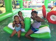 At Big Bula - Inflatable Water Park, Sofitel Fiji Resort and Spa