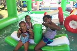At Big Bula - Inflatable Water Park, Sofitel Fiji Resort and Spa