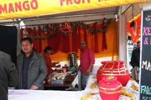 One of the dozens of stalls that did brisk business