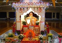 The shrine in the centre of the hall at MG Centre